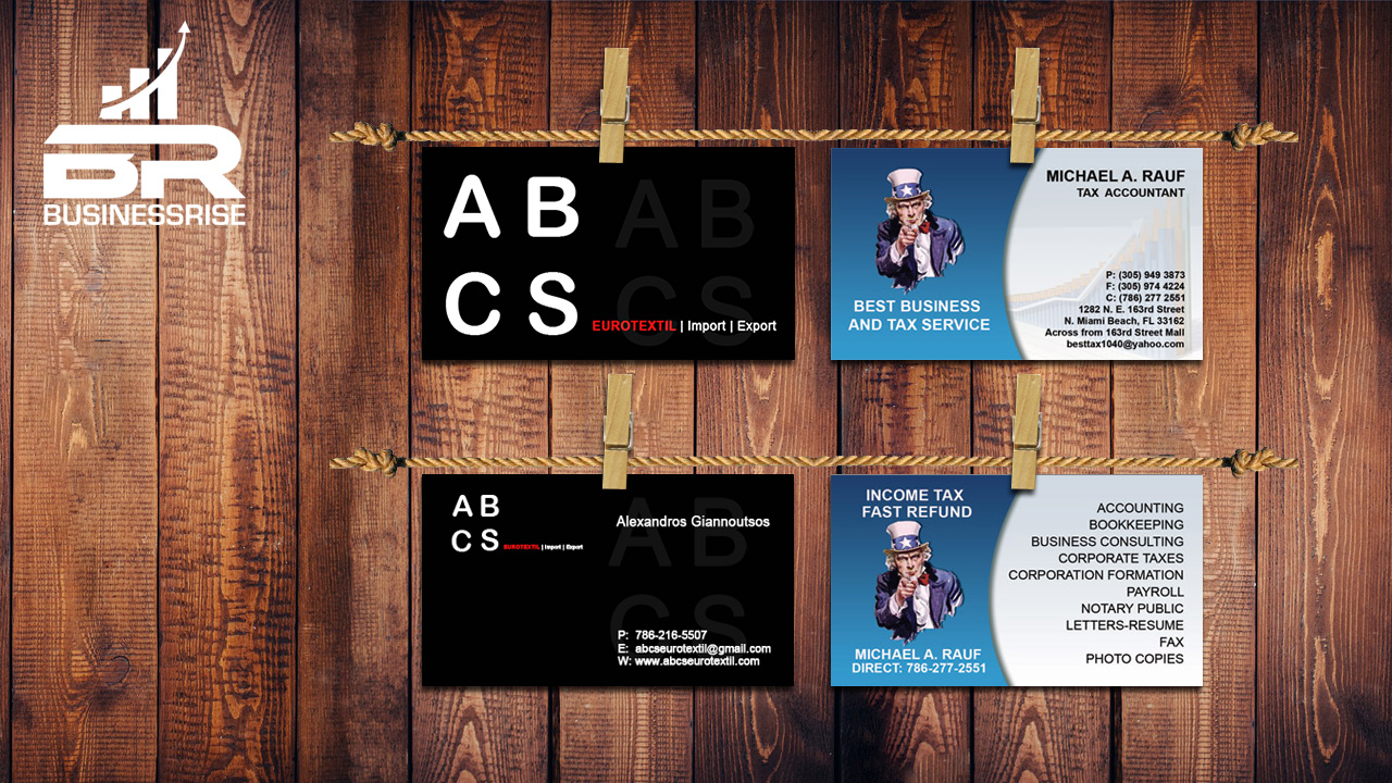 Graphic Design Marketing Collaterals Business cards
